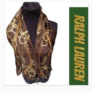 Vintage RL equestrian silk scarf